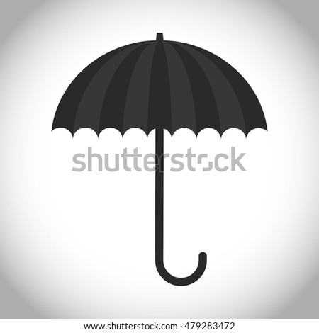 Silhouette of umbrella icon. Accesory season and protection theme. Isolated design. Vector illustration