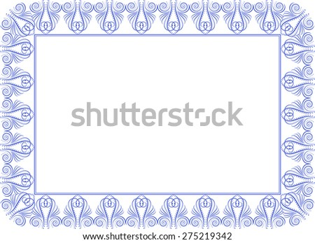 silhouette of vintage frame - stock vector