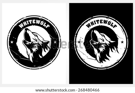 silhouette of wolf - stock vector