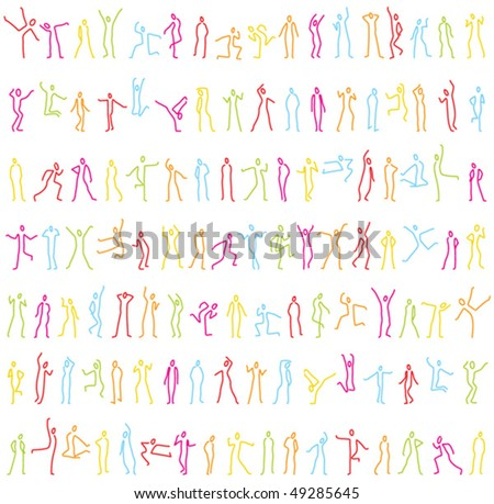 silhouette pattern - stock vector