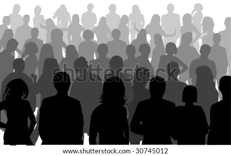 silhouette person - stock vector