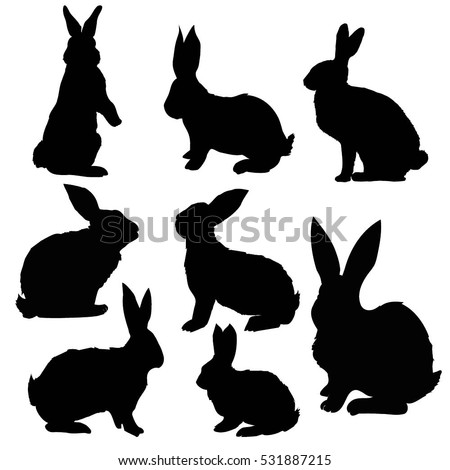 silhouette rabbit vector illustration stock vector 531887215 rh shutterstock com rabbit vectors free rabbit vector free download