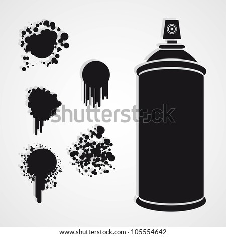Spray Paint Silhouette Silhouette Spray Bottle With
