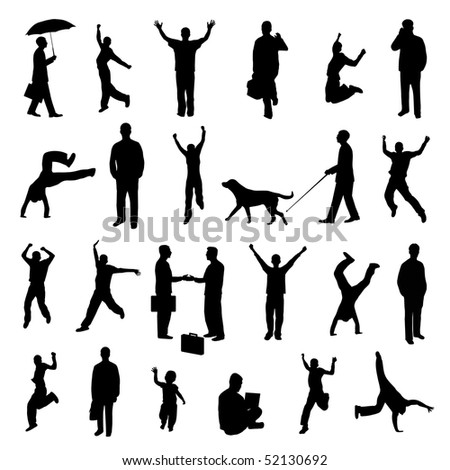 Silhouettes - stock vector