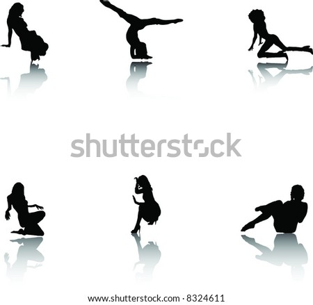 Silhouettes collection. - stock vector