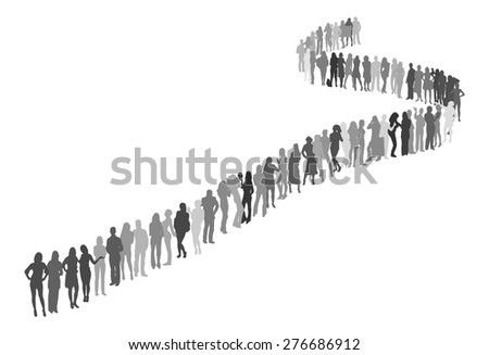 Silhouettes composition - stock vector