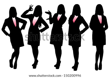 Business Woman Silhouette Stock Images, Royalty-Free ...