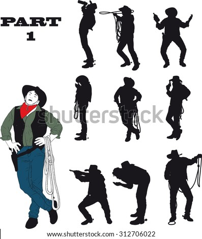 Cowboy silhouette stock images royalty free images for Cowboy silhouette tattoo