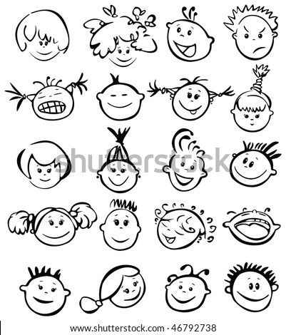 how to draw cartoon faces for kids