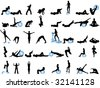silhouettes of sport - stock vector