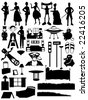 Silhouettes set - stock vector