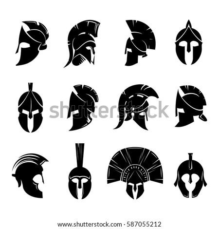 M Rank Silhouettes Spartan Helmet
