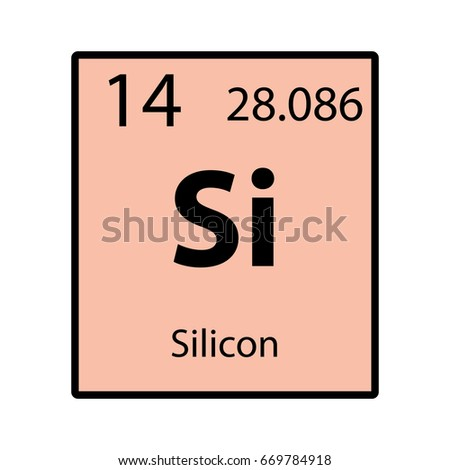 Silicon Periodic Table Element Color Icon Stock Vector Royalty Free