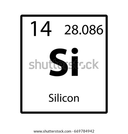 Silicon Periodic Table Element Icon On Stock Vector 669784942 ...