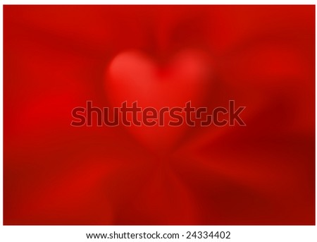 Silky heart background (image is a vector gradient mesh) - stock vector