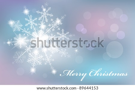 Silver abstract background with snowflakes. Vector illustration - stock vector