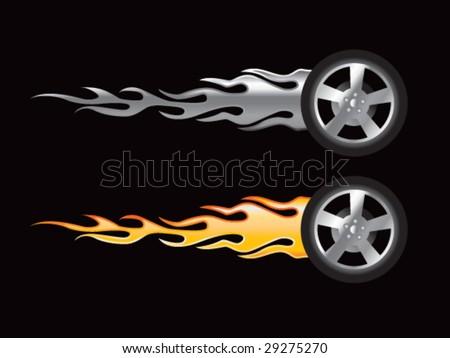 Flaming Tire by Al-Dajjal on DeviantArt |Flamming Tire