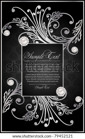 silver background for decoration - stock vector