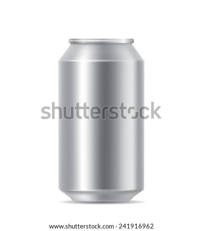 Silver blank can