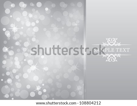silver blur - vector background - stock vector