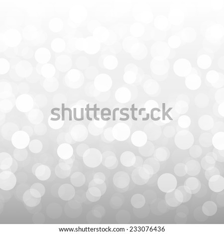 Silver Bokeh Wallpaper With Gradient Mesh, Vector Illustration - stock vector