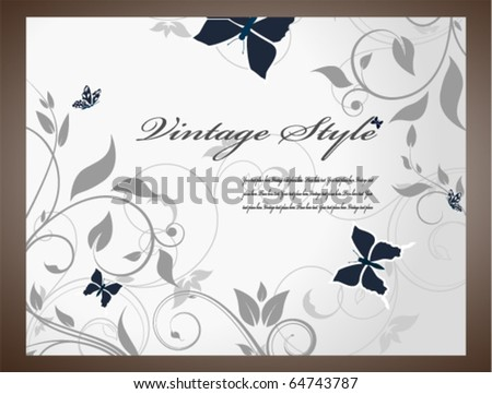 Silver card - stock vector