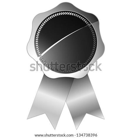 silver certified seal isolated on white background - stock vector