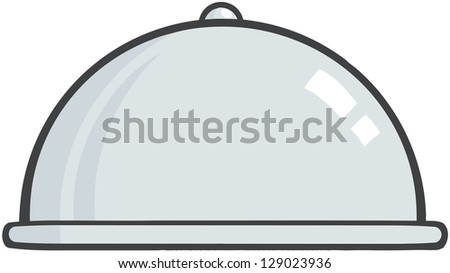 Silver Chef Platter - stock vector