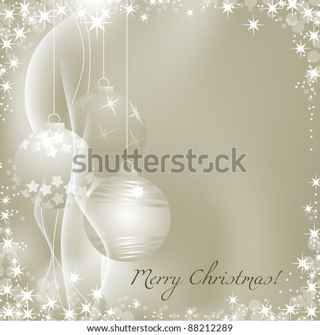 Silver Christmas background vector illustration - stock vector