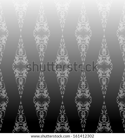 silver classic seamless pattern - stock vector