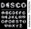 Silver disco ball letters - stock photo