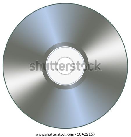 Silver disk - stock vector