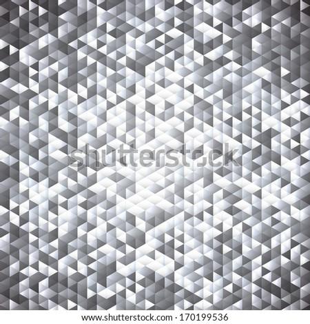 Silver gray blinking glitter background.Glittering sequins mosaic pattern. - stock vector