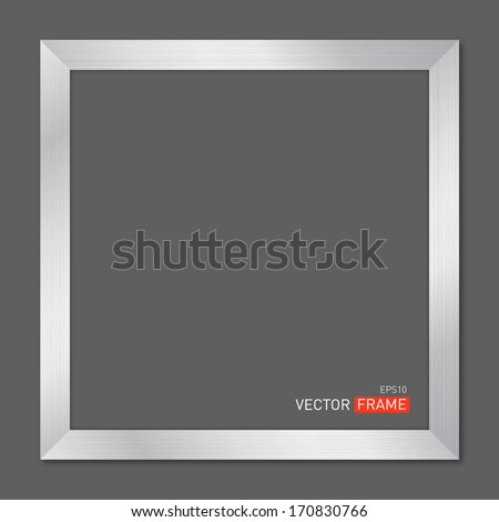 Silver Metal Frame. Vector Illustration - stock vector
