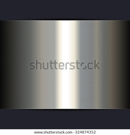Silver Metal Shine Texture Background. Vector illustration - stock vector