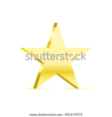 silver metal star vector icon symbol