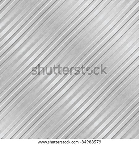 Silver metal striped background - stock vector