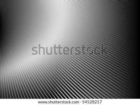 Silver metal striped vector illustration - stock vector