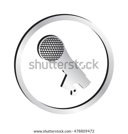 Silver Microphone Icon