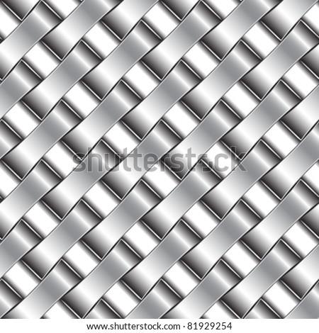 silver pattern, abstract seamless texture; vector art illustration - stock vector