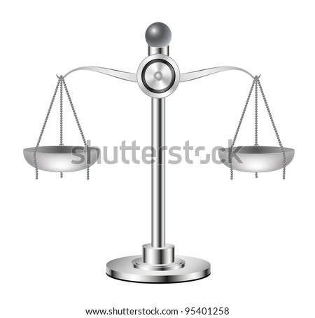 Silver scales - stock vector