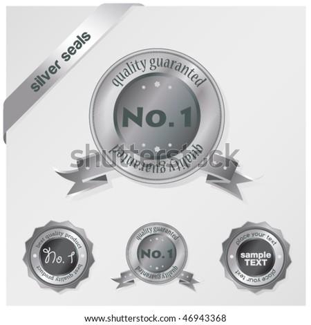 silver seals - stock vector