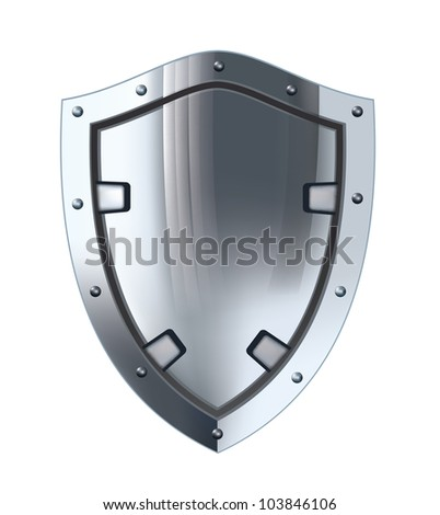 Silver shield. - stock vector