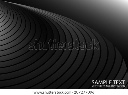 Silver striped vector background illustration lighted  - Shiny metal vector lighted background template - stock vector