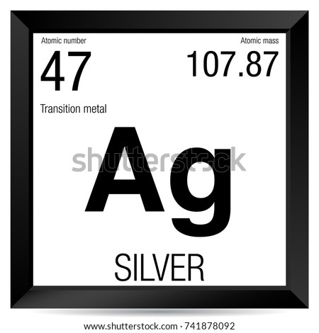 Silver symbol element number 47 periodic stock vector 741878092 silver symbol element number 47 of the periodic table of the elements chemistry urtaz Gallery