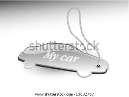 Silver trinket - stock vector