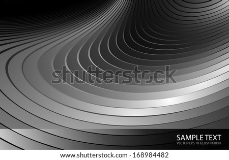 Silver vector  twisted background surface for web design - Metal abstract vector background illustration  - stock vector