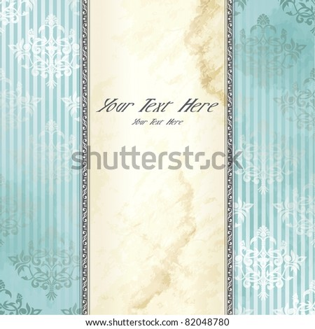 Silver Victorian vintage banner (eps10); jpg version also available