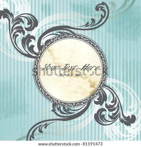 Silver Victorian vintage emblem (eps10); jpg version also available - stock vector