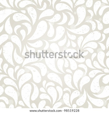 Silver vintage seamless background. EPS 10 vector illustration. - stock vector